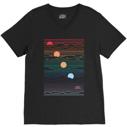 Under  Sun V-neck Tee Designed By Rardesign