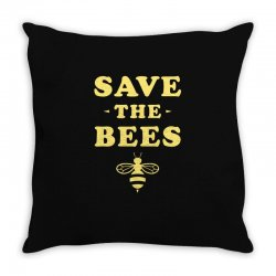 Save The Bees Throw Pillow | Artistshot
