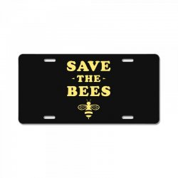 Save The Bees License Plate | Artistshot