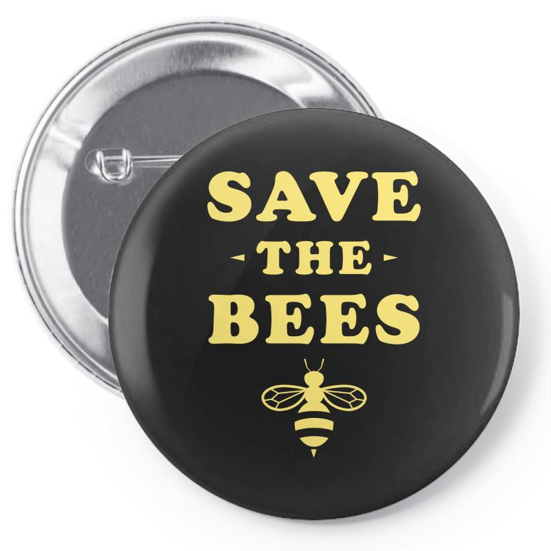 Save The Bees Pin-back Button | Artistshot