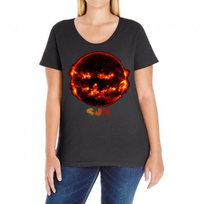 Halloween Sun Ladies Curvy T-shirt Designed By Yemliha