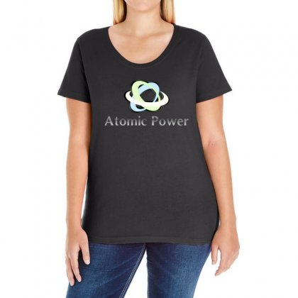 Atomic Power Ladies Curvy T-shirt Designed By Yemliha