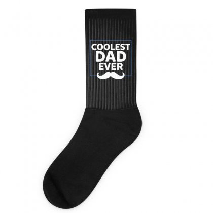 Coolest Dad Ever Socks Designed By Bigdlab