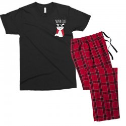 Super Cat Men's T-shirt Pajama Set | Artistshot