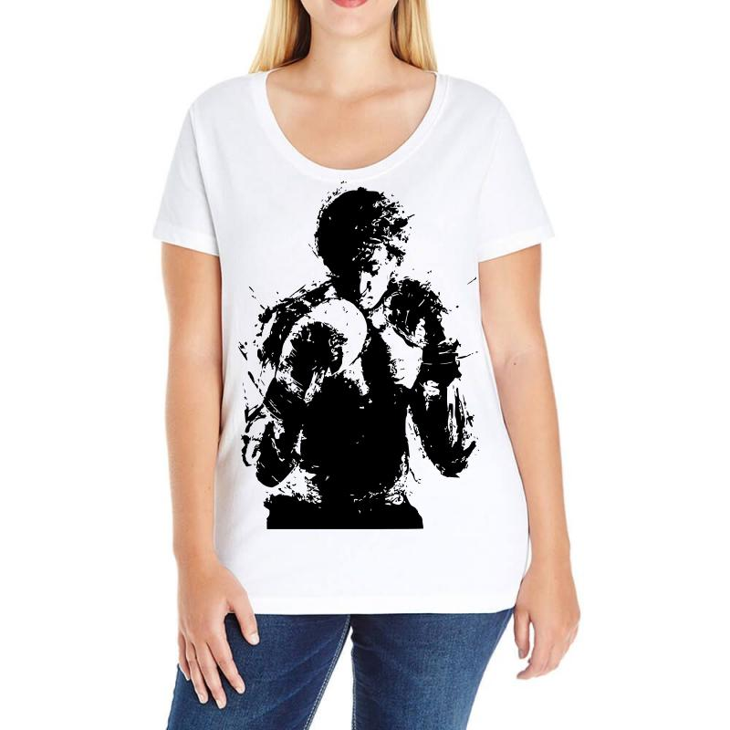 da490a0be30 Custom Rocky Balboa Ladies Curvy T-shirt By Sbm052017 - Artistshot