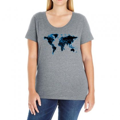 World Map Design Ladies Curvy T-shirt Designed By Yemliha