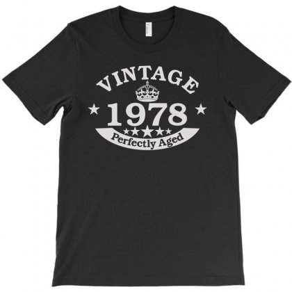 40th Birthday Gift Vintage 1978 Perfect Aged T-shirt Designed By Satrio Art