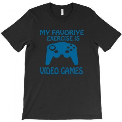 My Favorite Exercise Is Video Games T-shirt Designed By Megaagustina