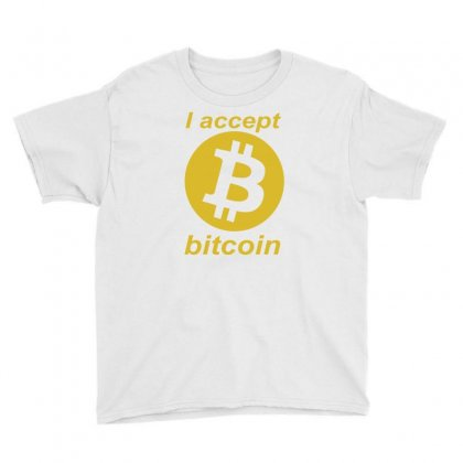 Bitcoin Youth Tee Designed By Blackacturus