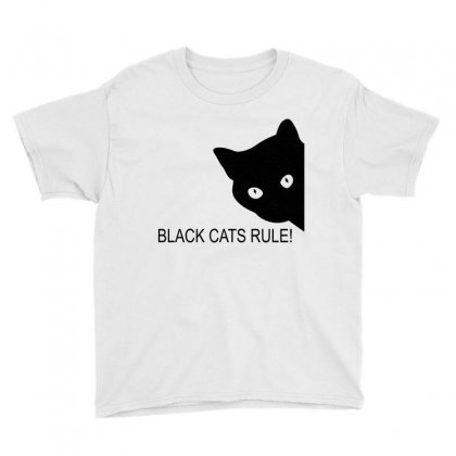 Black Cats Rule Youth Tee Designed By Blackacturus