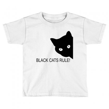 Black Cats Rule Toddler T-shirt Designed By Blackacturus