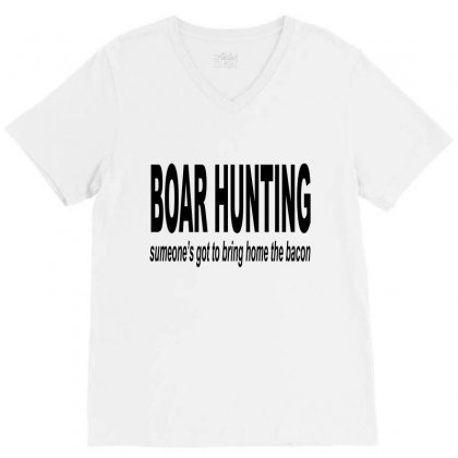Boar Hunting Tex V-neck Tee Designed By Blackacturus