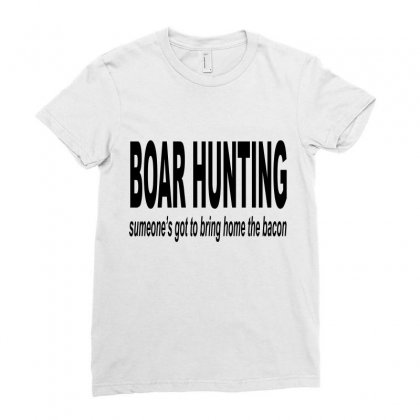 Boar Hunting Tex Ladies Fitted T-shirt Designed By Blackacturus