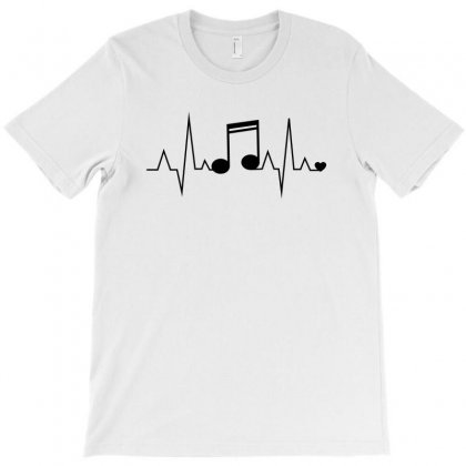 Heart Rhythm Music T-shirt Designed By Bigdlab