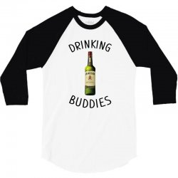 Drinking Buddies Milk and Jameson Whiskey 3/4 Sleeve Shirt | Artistshot