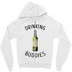 Drinking Buddies Milk and Jameson Whiskey Zipper Hoodie | Artistshot