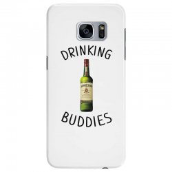 Drinking Buddies Milk and Jameson Whiskey Samsung Galaxy S7 Edge Case | Artistshot