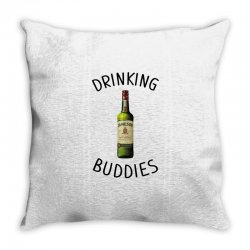 Drinking Buddies Milk and Jameson Whiskey Throw Pillow | Artistshot