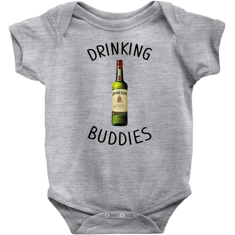 Drinking Buddies Milk And Jameson Whiskey Baby Bodysuit | Artistshot