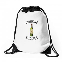 Drinking Buddies Milk and Jameson Whiskey Drawstring Bags | Artistshot