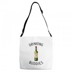 Drinking Buddies Milk and Jameson Whiskey Adjustable Strap Totes | Artistshot