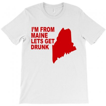 Funny Maine State T-shirt Designed By Blackacturus