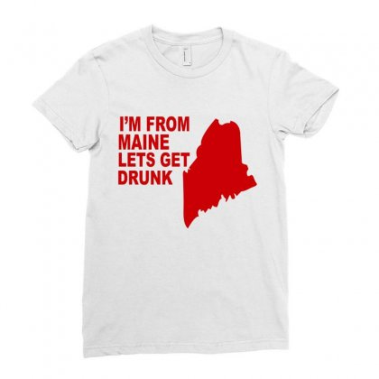 Funny Maine State Ladies Fitted T-shirt Designed By Blackacturus
