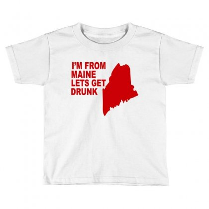 Funny Maine State Toddler T-shirt Designed By Blackacturus