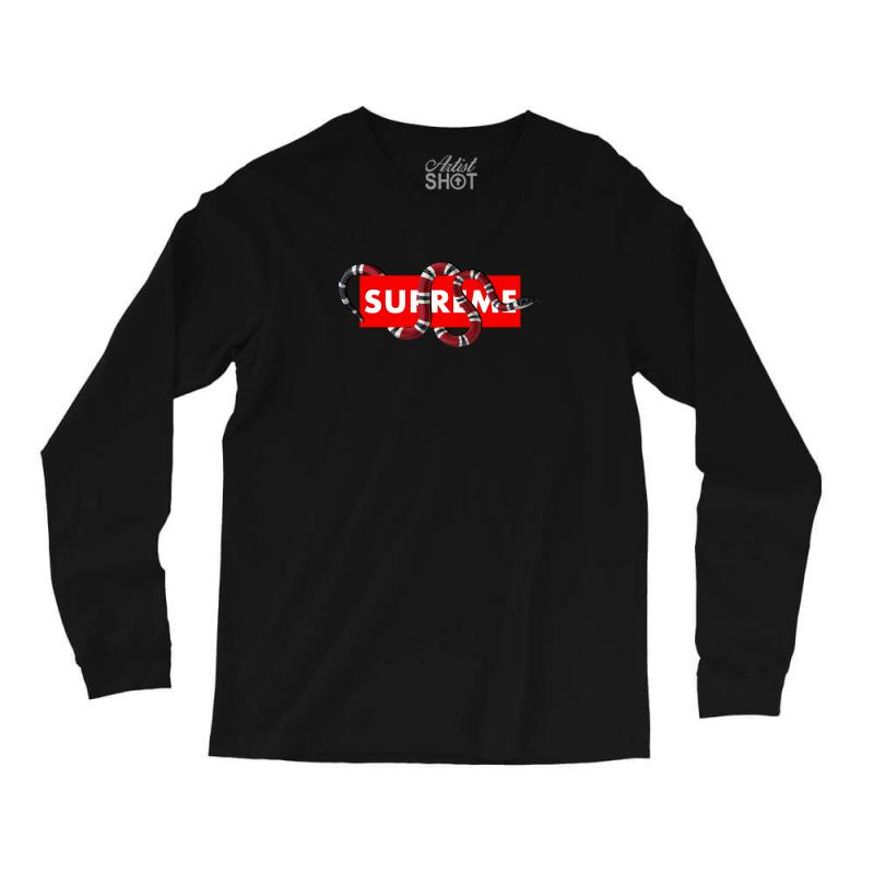 a43ba152b1c8 Custom Supreme Hypebeast With Snake Long Sleeve Shirts By Akin ...
