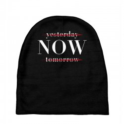 Yesterday Now Tomorrow Baby Beanies | Artistshot