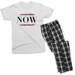Yesterday Now Tomorrow Men's T-shirt Pajama Set | Artistshot