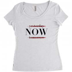 Yesterday Now Tomorrow Women's Triblend Scoop T-shirt | Artistshot
