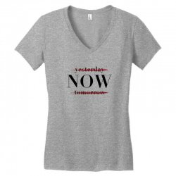 Yesterday Now Tomorrow Women's V-Neck T-Shirt | Artistshot