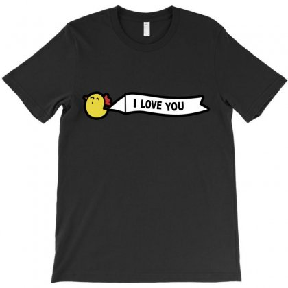 I Love You T-shirt Designed By Blackacturus