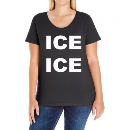 Ice Ice Ladies Curvy T-shirt Designed By Blackacturus