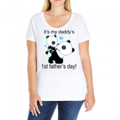 It's My Daddy's Ladies Curvy T-shirt Designed By Blackacturus