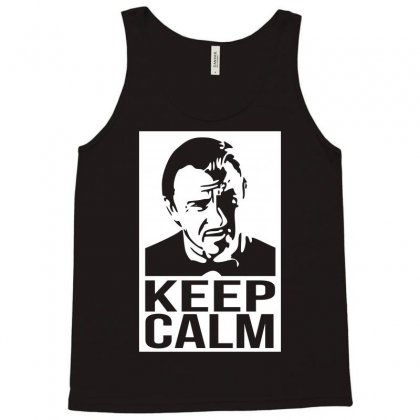 Keep Call Mr Wolf Tank Top Designed By Karlangas