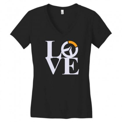 Loverwatch Women's V-neck T-shirt Designed By Karlangas