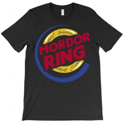 Mordor Ring T-shirt Designed By Karlangas