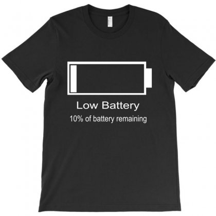 Low Battery T-shirt Designed By Blackacturus
