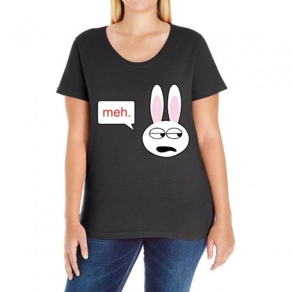 Meh Bunny Ladies Curvy T-shirt Designed By Blackacturus