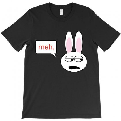 Meh Bunny T-shirt Designed By Blackacturus