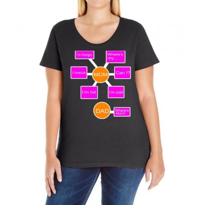 Mom And Dad Ladies Curvy T-shirt Designed By Blackacturus