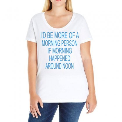 Morning Person Ladies Curvy T-shirt Designed By Blackacturus