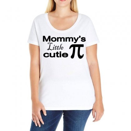 Mommy's Little Cutie Ladies Curvy T-shirt Designed By Blackacturus