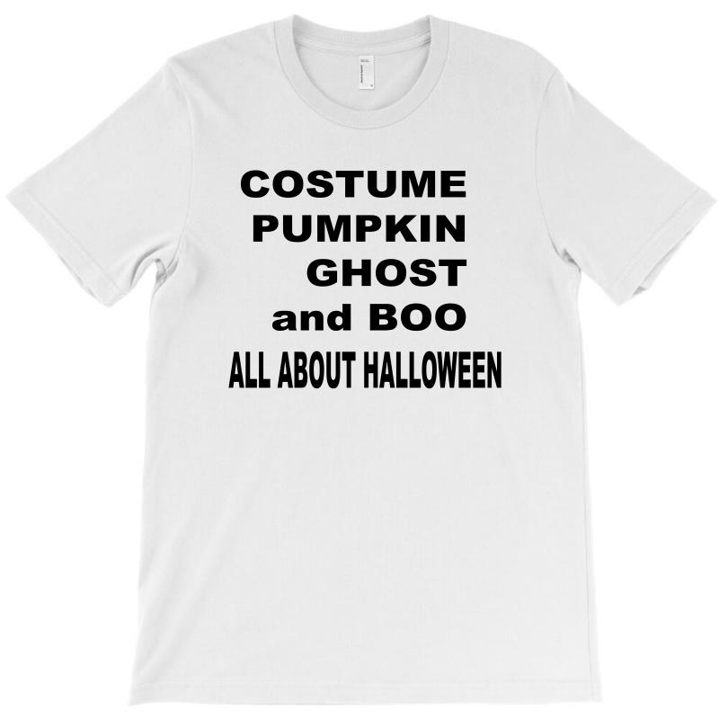 5e09c1f7 Custom All About Halloween. T-shirt By Ujang Atkinson - Artistshot
