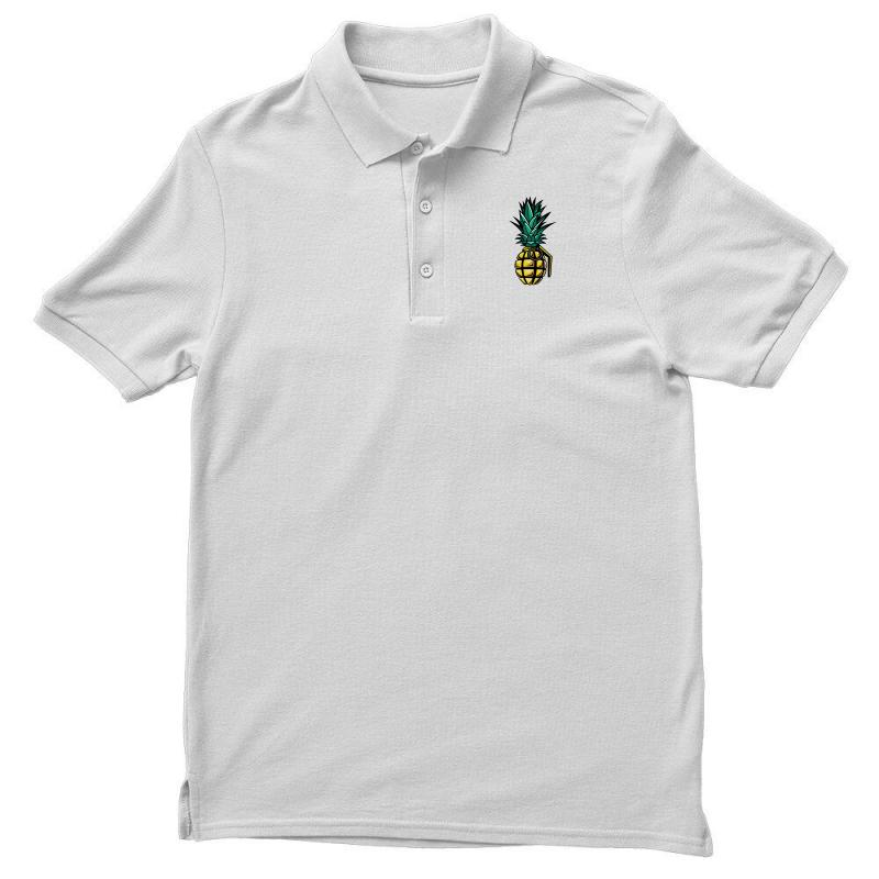 Custom Pineapple Bomb Pocket Polo Shirt By Bigdlab Artistshot