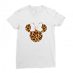 Minnie Mouse Leopard Ladies Fitted T-Shirt | Artistshot