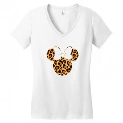 Minnie Mouse Leopard Women's V-Neck T-Shirt | Artistshot