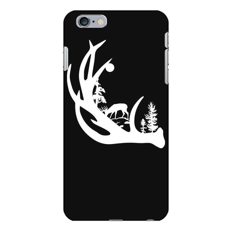 Custom Deer Antler With Buck Forest Iphone 6 Plus 6s Plus Case By